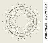 mystical geometry symbol.... | Shutterstock .eps vector #1199954815