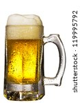 mug fresh beer with cap of foam ... | Shutterstock . vector #119995792
