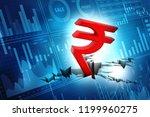 indian rupee crisis concept ... | Shutterstock . vector #1199960275
