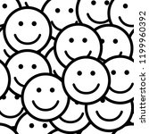 seamless pattern with smile...   Shutterstock .eps vector #1199960392