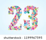 vector colorful floral 23... | Shutterstock .eps vector #1199967595