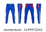 sport sweatpants design... | Shutterstock .eps vector #1199972242
