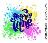 """hand sketched """"happy time""""... 