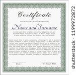 green certificate template or... | Shutterstock .eps vector #1199972872