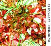 bright tropical seamless...   Shutterstock . vector #1199973568