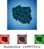 map of poland | Shutterstock .eps vector #1199975212