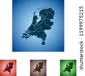 map of netherlands   Shutterstock .eps vector #1199975215