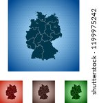 map of germany | Shutterstock .eps vector #1199975242