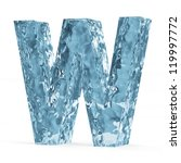 Water Alphabet isolated on white background (Letter W) - stock photo