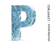 Water Alphabet isolated on white background (Letter P) - stock photo