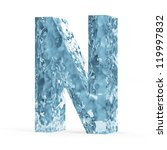 Water Alphabet isolated on white background (Letter N) - stock photo