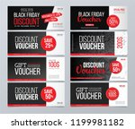 big discount and gift voucher... | Shutterstock .eps vector #1199981182