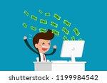 business earnings money from... | Shutterstock .eps vector #1199984542
