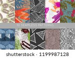 collection of seamless patterns.... | Shutterstock .eps vector #1199987128