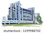 condo on hill sketch | Shutterstock .eps vector #1199988742