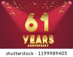 61th anniversary numbers.... | Shutterstock .eps vector #1199989405