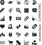 solid black flat icon set heart ... | Shutterstock .eps vector #1199991592