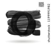 grey brush stroke and texture.... | Shutterstock .eps vector #1199991982