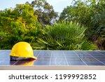 solar panel energy concept on... | Shutterstock . vector #1199992852