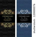 luxury vintage cards | Shutterstock .eps vector #120000076