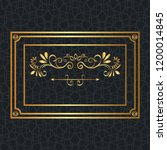 elegant square golden frame | Shutterstock .eps vector #1200014845