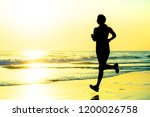 silhouette of young happy and...   Shutterstock . vector #1200026758