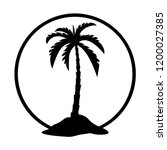 palm tree icon silhouette  palm ... | Shutterstock .eps vector #1200027385