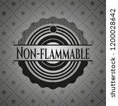non flammable dark emblem | Shutterstock .eps vector #1200028642