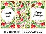cute set of winter botanical...   Shutterstock . vector #1200029122