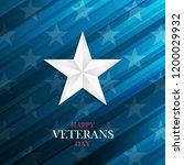 usa happy veterans day greeting ... | Shutterstock .eps vector #1200029932