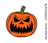 evil face pumpkin jack o... | Shutterstock .eps vector #1200031678