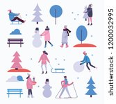 vector illustration in flat... | Shutterstock .eps vector #1200032995