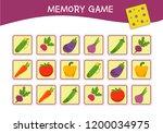 memory game for preschool...   Shutterstock .eps vector #1200034975