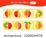 matching children educational... | Shutterstock .eps vector #1200034978
