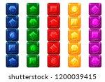 cartoon gems  multi colored...