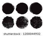 grunge circle frames.vector... | Shutterstock .eps vector #1200044932
