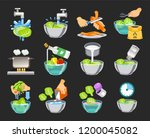 how to clean vegetables without ... | Shutterstock .eps vector #1200045082