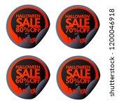 halloween stickers 50 60 70 80...   Shutterstock .eps vector #1200046918
