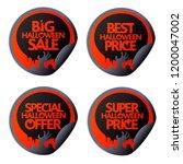 halloween sale set stickers...   Shutterstock .eps vector #1200047002
