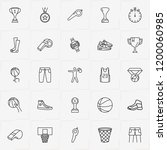 basketball line icon set with... | Shutterstock .eps vector #1200060985