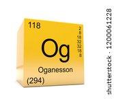 oganesson chemical element... | Shutterstock . vector #1200061228