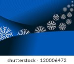 blue background with snowflakes | Shutterstock .eps vector #120006472