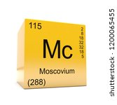 moscovium chemical element... | Shutterstock . vector #1200065455