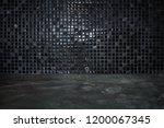 cement floor with black stone... | Shutterstock . vector #1200067345