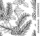 christmas pattern seamless... | Shutterstock .eps vector #1200069052