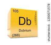 dubnium chemical element symbol ... | Shutterstock . vector #1200071578