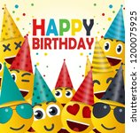 happy birthday card vector... | Shutterstock .eps vector #1200075925