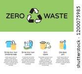 vector zero waste icon logo... | Shutterstock .eps vector #1200075985