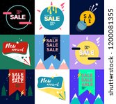 sale tag collection vector | Shutterstock .eps vector #1200081355