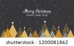golden abstract christmas...   Shutterstock .eps vector #1200081862